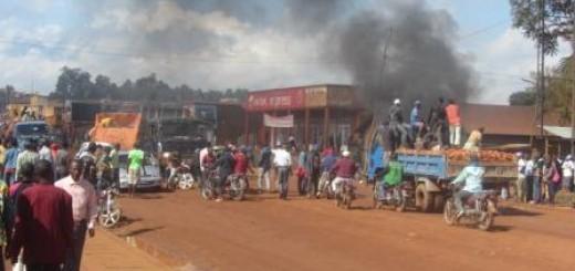 Vue d'une manifestation en Ville de Butembo