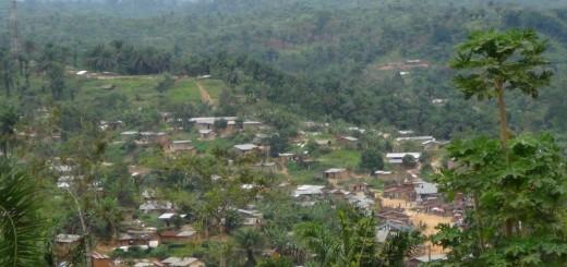 Vue du Centre du Village de Manguredjipa en Territoire de Lubero