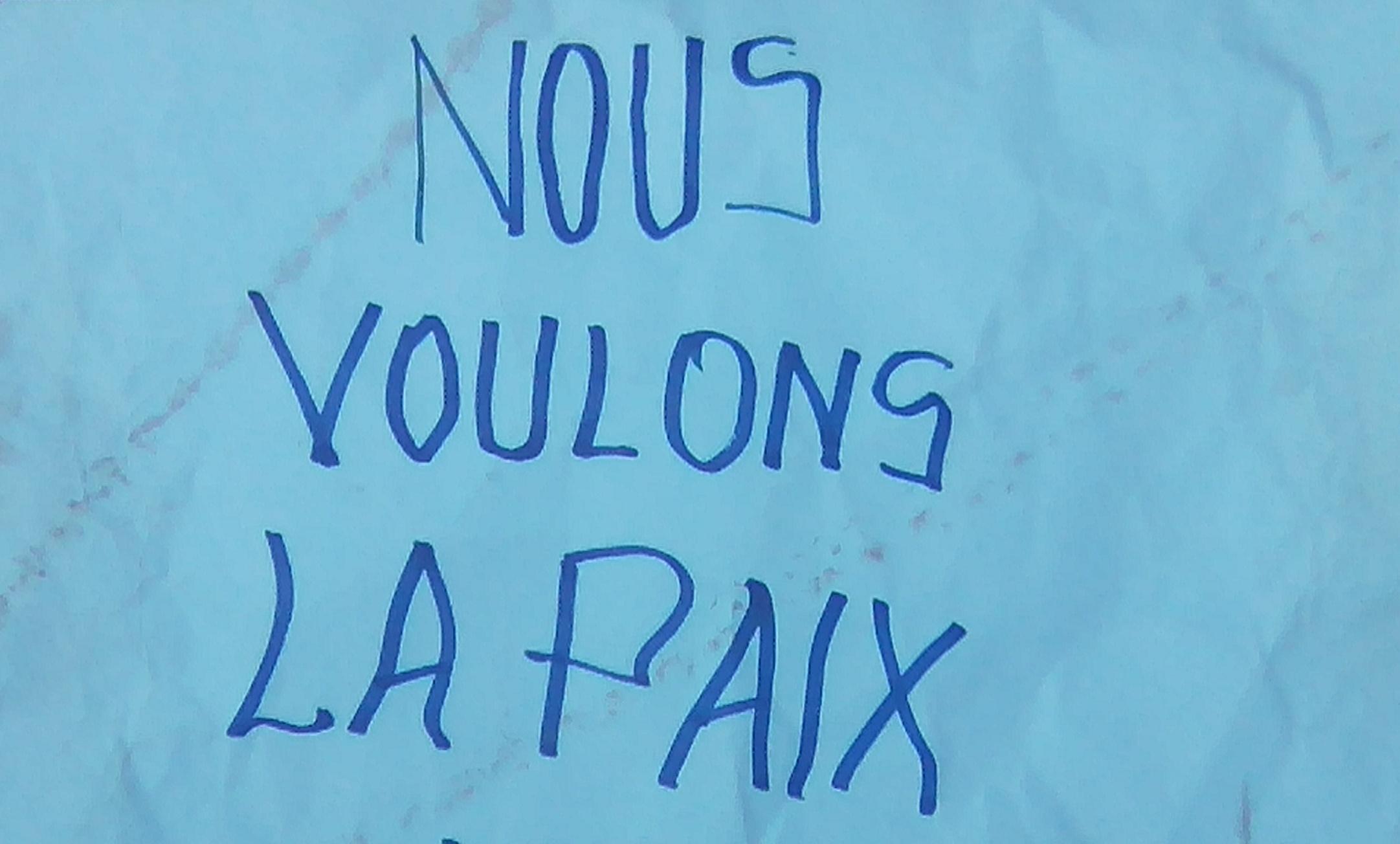 Affiche Paix, message manifestants du 13 aout 2016 à Butembo