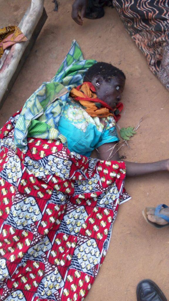 Une des victimes des massacres de Kitevya. Photo droits tiers