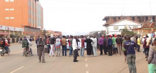 Des militants de la lucha manifestantà Butembo contre les massacres de Beni. Crédit Photo Deo SIKU/GADHOP
