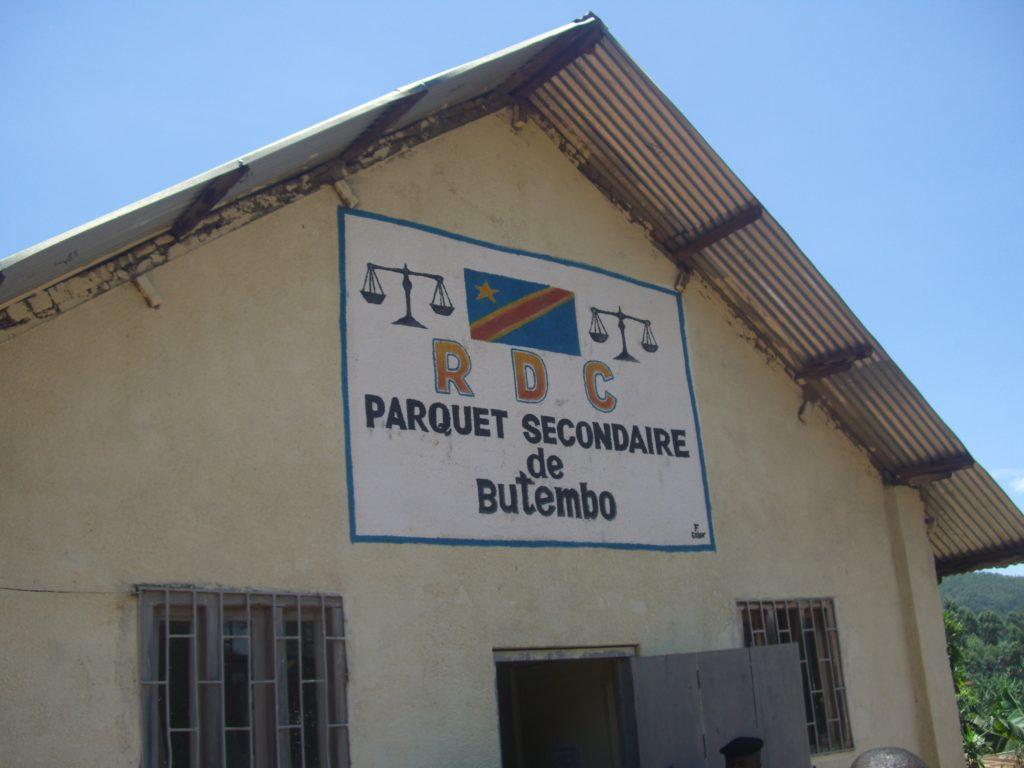 Façade du Parquet de Butembo au Nord Kivu. Crédit Photo GADHOP